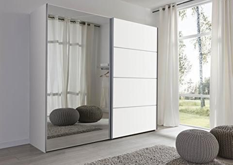 Schlafzimmer Florence White Sliding Door Wardrobe With Mirror 202cm Wide Germa Childrens Bedroom Furniture Sets Bedroom Storage White Sliding Door Wardrobe