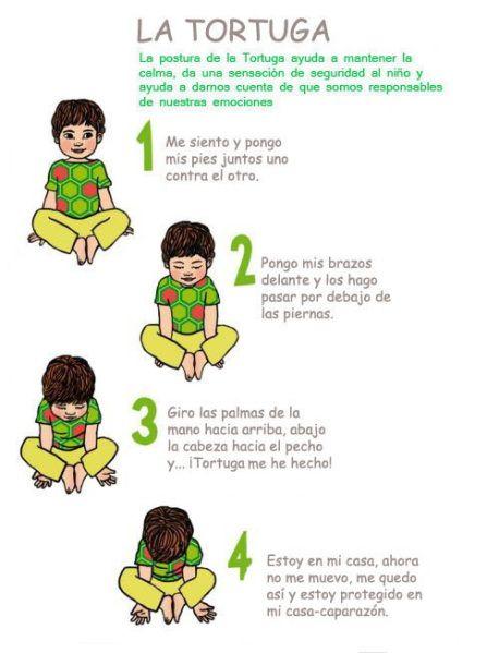 La Tortuga Posturas De Yoga Para Niños Yoga Para Niños Chico Yoga