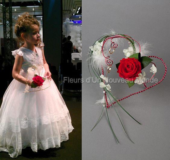 Porta aros de matrimonio boda en forma de corazon bridesmaids flowe - Porte alliance original ...