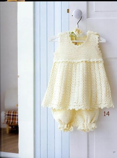 Free Crochet Pattern Baby Jumper : Baby Jumper Skirt with Bloomers free crochet pattern for ...