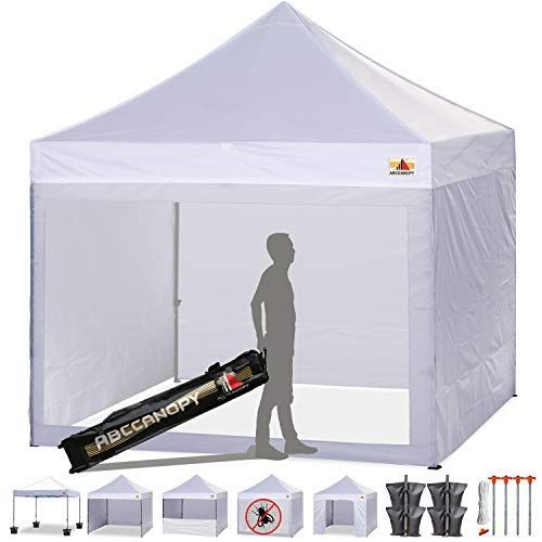 Amazon Com Abccanopy 10 X 10 Ez Pop Up Canopy Tent Commercial Instant Tents Market Stall With 4 Removable Sidewall Canopy Tent Instant Tent Pop Up Canopy Tent