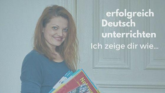 Du willst Deutsch unterrichten und anderen helfen? Du möchtest mit Deutschunterricht dein Geld verdienen? Hier erhältst du das notwendige Handwerkzeug...
