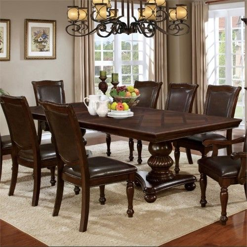 Furniture Of America Alstroemeria Traditional Dining Table In