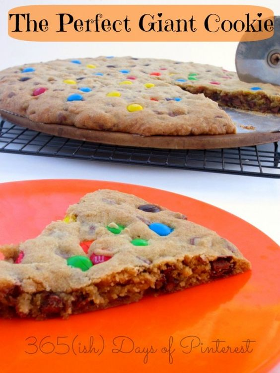 Giant cookie cake, Cookie cakes and Pizza pan on Pinterest