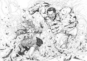 Red Hulk Unchained By Reybronx On Deviantart Batman Vs Batman Vs Superman Coloring Pages