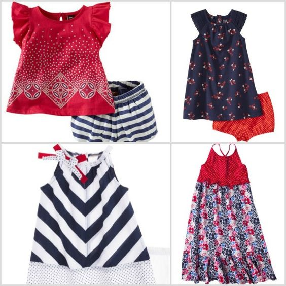 Cute Fourth of July outfits for kids- outfits for baby girls