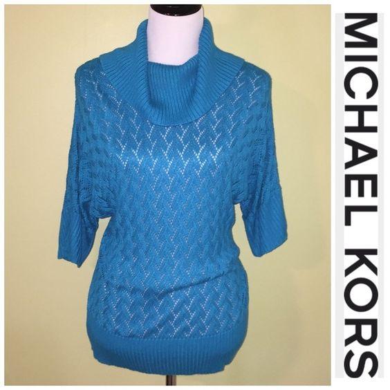 Teal Michael Kors sweater size medium EUC Michael Kors Sweaters Cowl & Turtlenecks