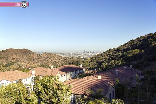 L.A. desde Mulholland Drive. HOLLYWOOD, CA