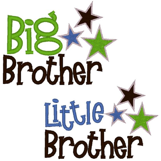 Big Brother/Little Brother Embroidery Design File. $5.00, via Etsy.