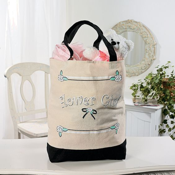 """Flower Girl"" Tote Bag - OrientalTrading.com  IN-91/6020"