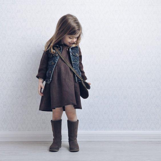 Linnen jurk voor een meisje rustieke jurk van Kontoradecora op Etsy