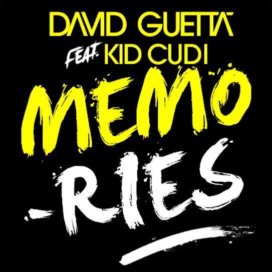 David Guetta, Kid Cudi – Memories (single cover art)