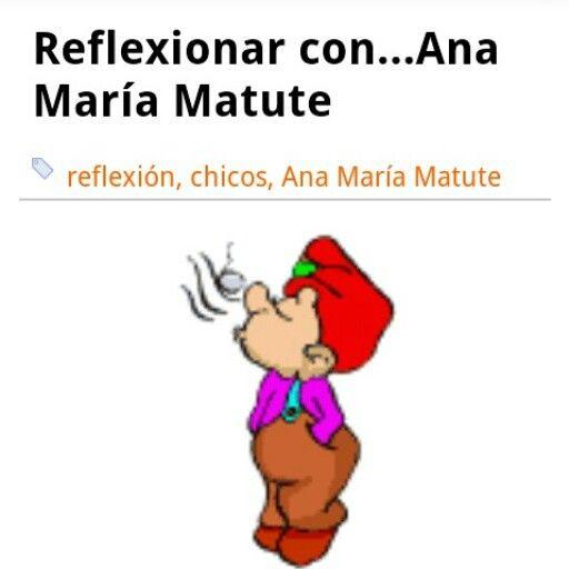 Nueva entrada: Reflexionar con...Ana María Matute