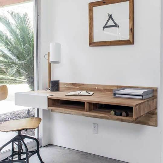 Wonderful Floating Hanging Desk For Your Cozy Home Wall Mounted Desk Desks For Small Spaces Wall Desk