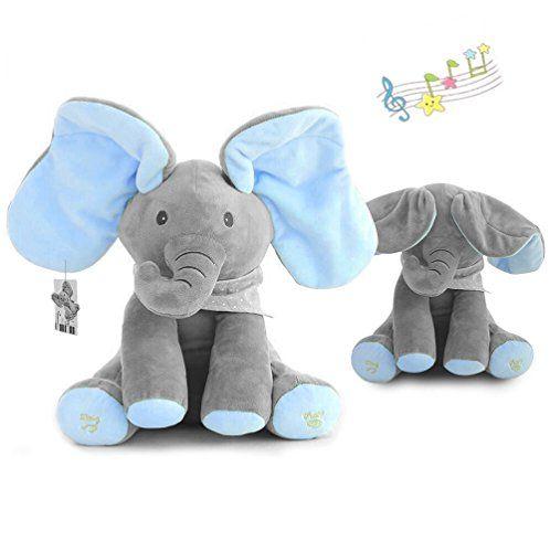 Peek-a-Boo Animated Talking Singing Plush Elephant Stuffed Doll Toys Kid Gift