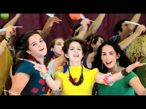 "Dip Your Apple - a fun pop song for Rosh Hashana. Watch this after reading the end of ""Out of Many Waters"" when the Jewish settlers celebrate the holiday upon their arrival in New Amsterdam."