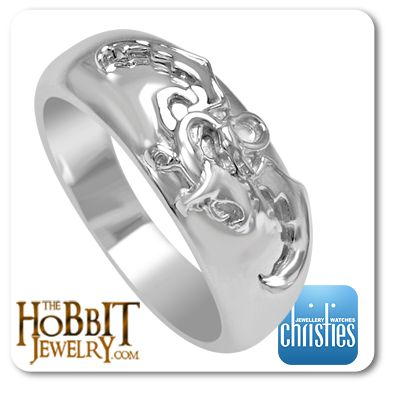 Official Hobbit DESOLATION OF SMAUG Ring http://www.thehobbitjewelry.com/official-hobbit-desolation-of-smaug-ring-41.html