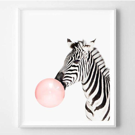 Zebra Room Decor: Zebra Print Nursery Art Zebra Wall Art Animal By