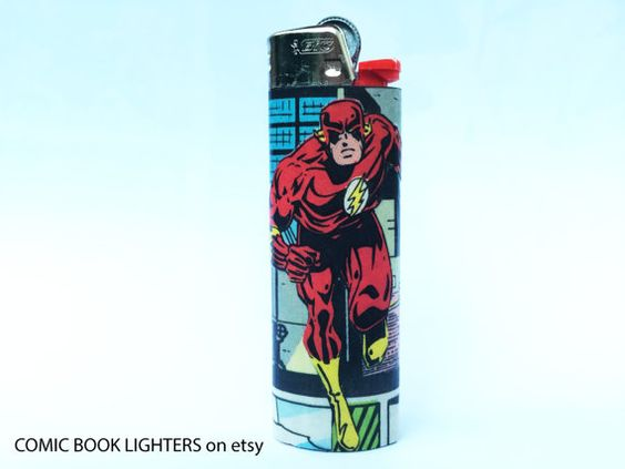 The Flash Comic Book Lighter by RemixComicBooks on Etsy
