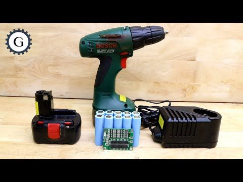 Lithium Battery Bms Nicd Nimh Charger Is It Possible Bosch Cordless Drill 14 4v Psr 1440 Youtube Cordless Drill Nimh Drill