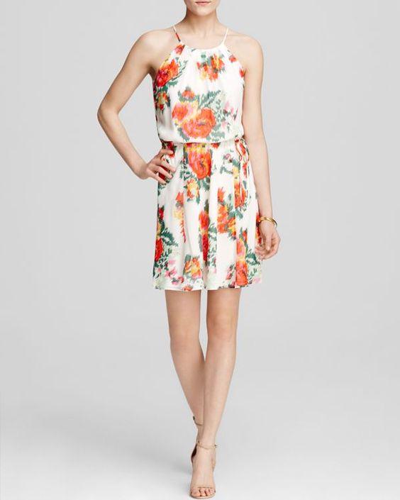 Joie Dress - Makana Floral Ikat