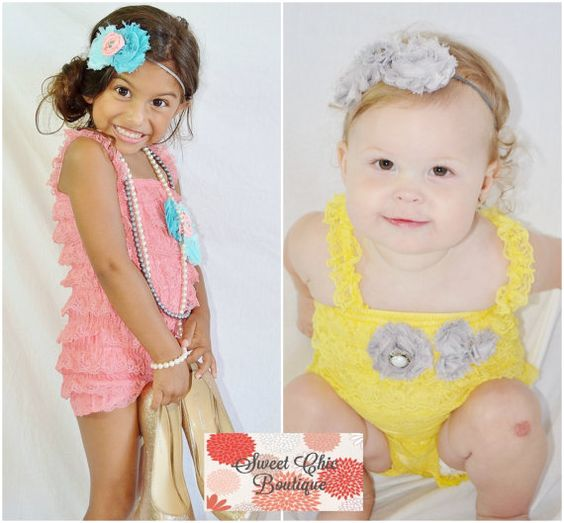 Custom Designed Romper for your baby girl by BoutiqueSweetChic, $30.00