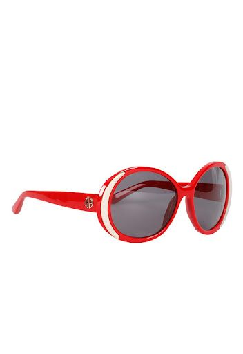 Red hot House of Harlow sunglasses, Hollywood glamour for 4th o July