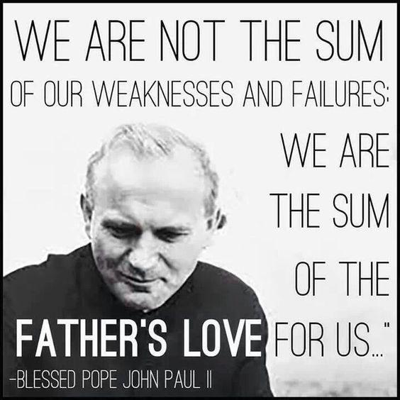 Fellow Catholics, why did Pope John Paul ll say this?