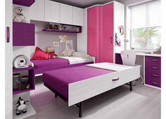 Habitaci n infantil con cama nido mobiliario juvenil for Mobiliario habitacion juvenil