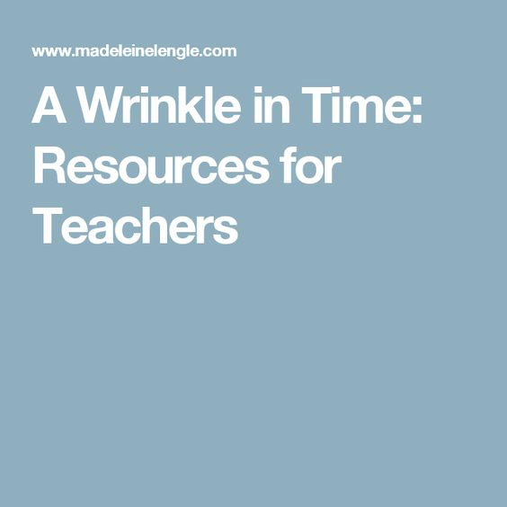 Meg Murry Quotes From A Wrinkle In Time: A Wrinkle In Time: Resources For Teachers