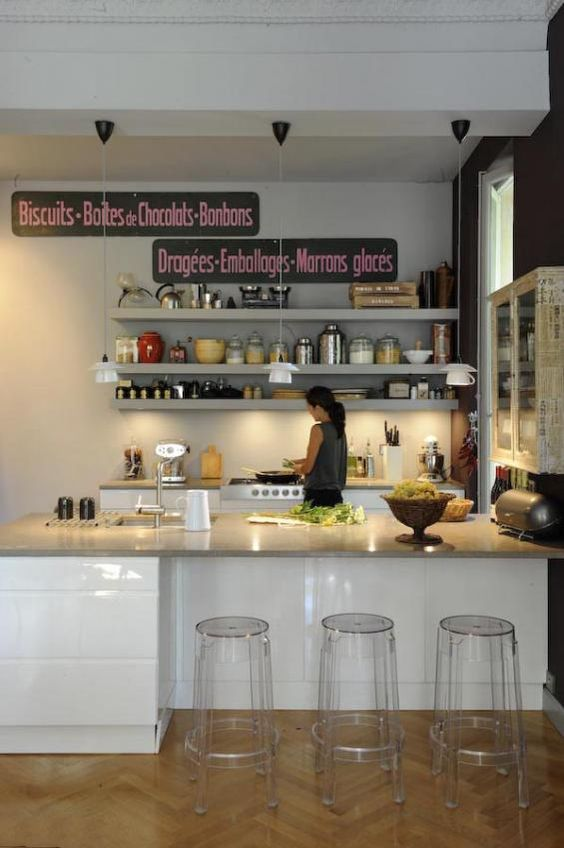 : Home Kitchen, Ghost Stools, Interiors Porn, Small Kitchens, Bar Stools, Kitchen Ideas, Art Signs