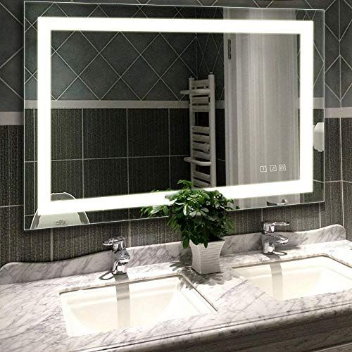 New Hauschen Home 48x36 Inch Led Lighted Vanity Bathroom Mirror Wall Mounted Anti Fog Dimmer Touch Switch Ul Listed Ip44 Waterproof 5500k Cool White In 2020