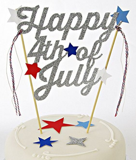 Happy Fourth Cake Topper