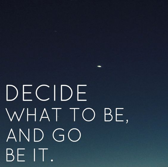 Go be it. ❥