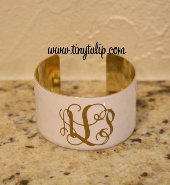tinytulip.com - Monogrammed Enameled Cuff Bracelet Free Shipping, $32.50 (http://www.tinytulip.com/monogrammed-enameled-cuff-bracelet-free-shipping)