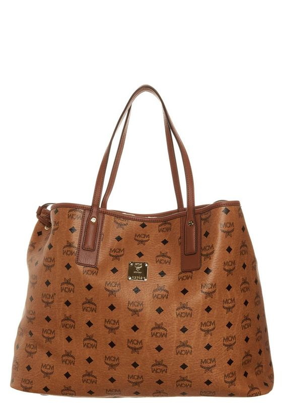 MCM Shopping Bag cognac <3. I so want an MCM handbag...may invest in one after college.