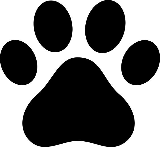 Dog paws, Dog paw prints and Clip art on Pinterest