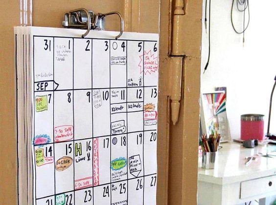 A3 Kalender Mai 2016 Okt 2017 von hippieprojects auf Etsy