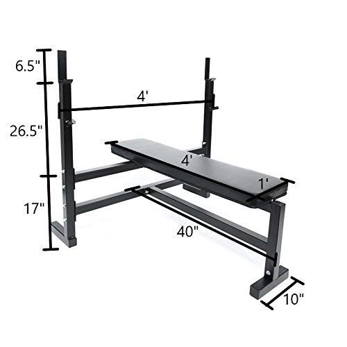 Olympic Bench Press W 7 Bar 255 Lb Plate Set 2 Olympic Collars Review With Images Bench Press Plate Sets Bench