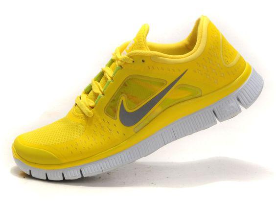 yellow nike free runs