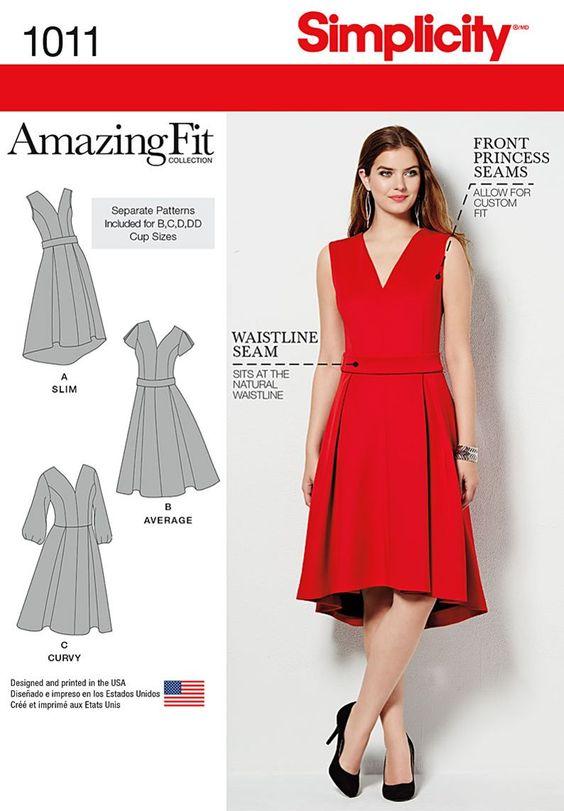 Resultado de imagen de simplicity patterns dress red