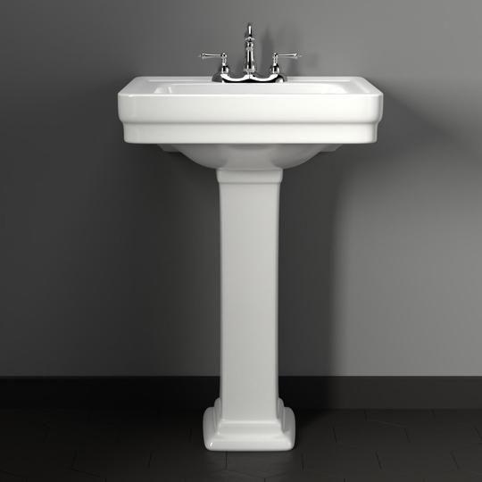 Tifton 100 Vitreous China Pedestal Sink Pedestal Sink Bathroom