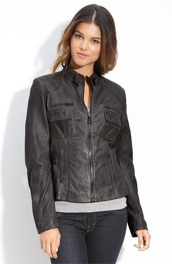 Love this sleek jacket. This charcoal color is perfect too.