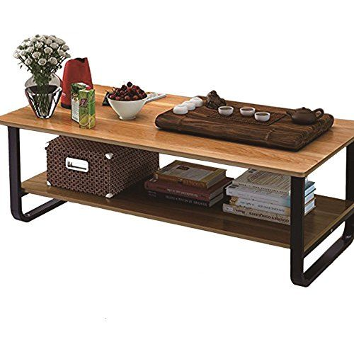 Mordern Large Coffee Table With Lower Storage Shelf For Living Room 48 Large Coffee Tables Living Room End Tables Cool Coffee Tables