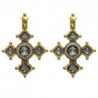 Chrystusa Pantokratora.  Krzyż ze srebra próby 925 z złota