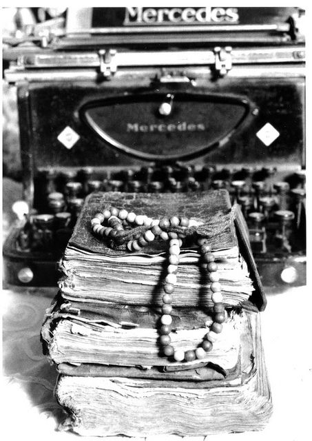 Hand written books with typing machines 2 by cek: & bardh:, via Flickr