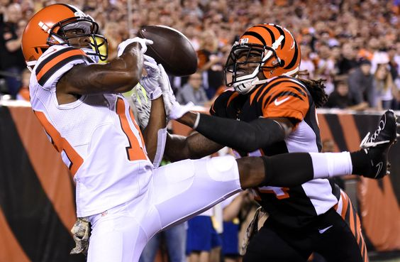 The Cincinnati Bengals are hoping their problems in primetime are history. -  Cincinnati's Adam Jones breaks up a pass intended for Cleveland's Taylor Gabriel during their game Thursday, Nov. 5 at Paul Brown Stadium in Cincinnati. NICK GRAHAM/STAFF
