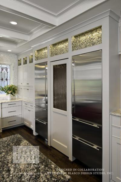 Sub Zero Fridge Amp Freezer Surround Hidden Walk In Pantry