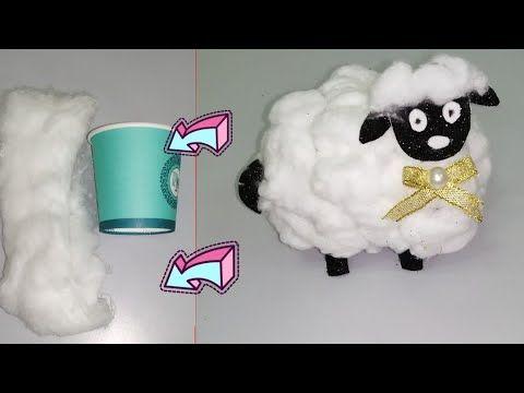 خروف العيد ٢٠٢٠ من كوبايه ورق وشويه قطن حاجة كده ببلاش و باسهل طريقة وتحدى Youtube Creative Crafts Crafts Diy Kids Games