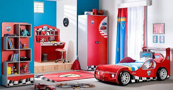 Lits en forme de voitures de course pour les chambres d'enfant ~ Décor de Maison / Décoration Chambre